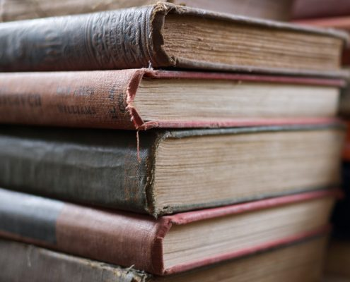 A Stack of Old well Read Books - Books to Help Heal a Broken Relationship - Sandra Harewood Counselling