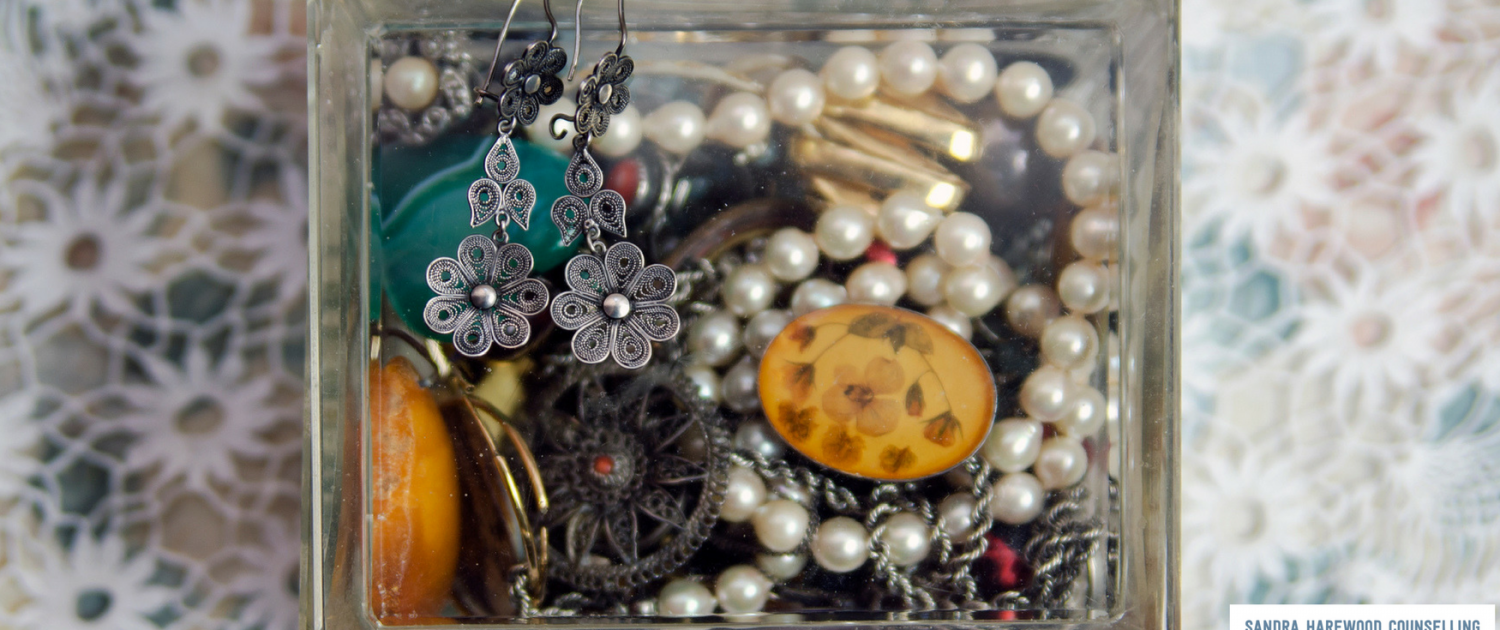 Glass Jewellery Box With Jewels - How To Invest In Yourself & Why Your Not Doing It - Sandra Harewood Counselling