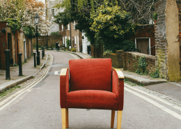 Red Arm Chair In Middle of the Road - Does Therapy Work? Yes It Does, And Here's The Evidence - Sandra Harewood Counselling